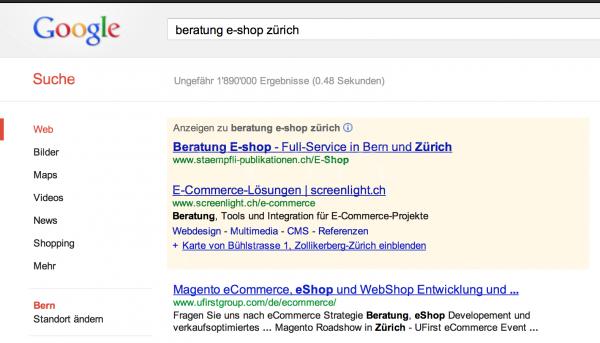 Google-Suchergebnis