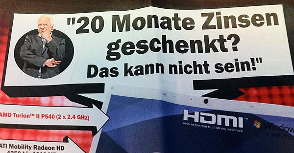 """Zoll-Zeichen vor der Zahl - """"20 Monate …"""
