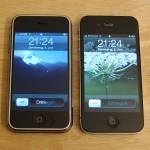 iPhones der ersten und der vierten Generation